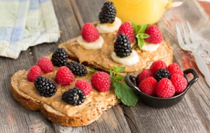 Peanut Butter With Fruit Toast